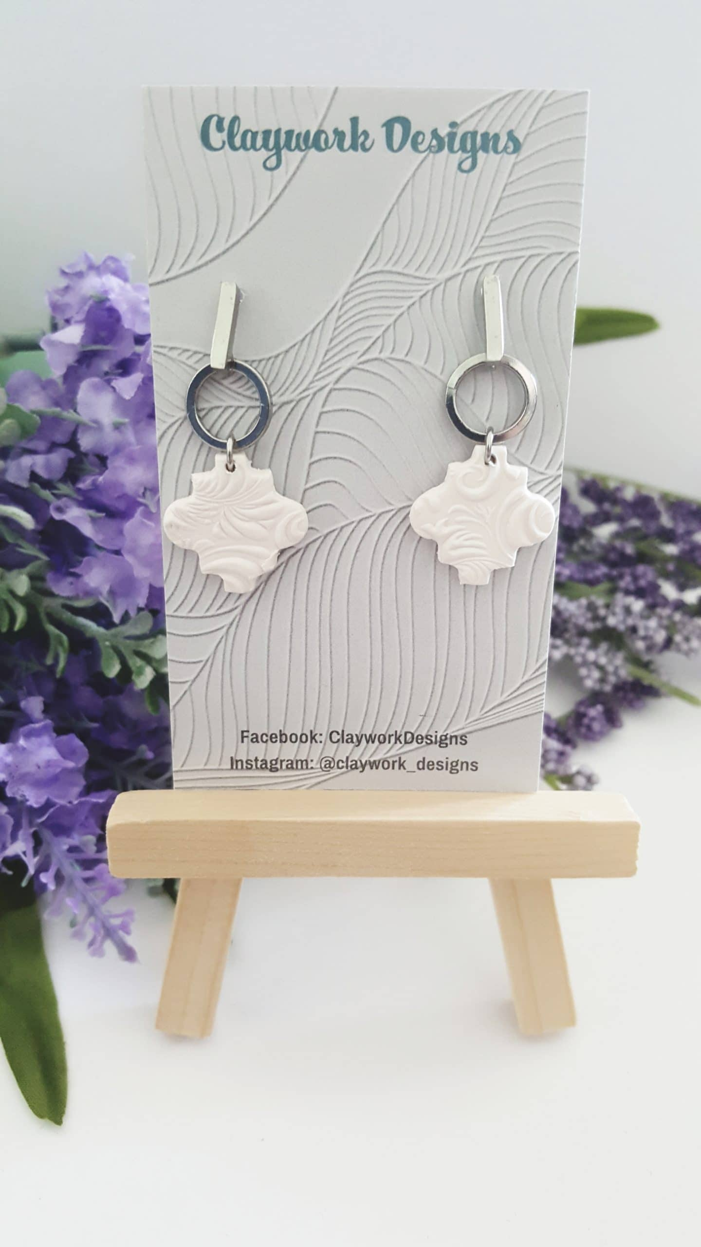 Wirework Designs   Handcrafted chainmaille jewellery and chainmaille products   Clay Dangle Stud Earrings - Single pair   20210515_152450