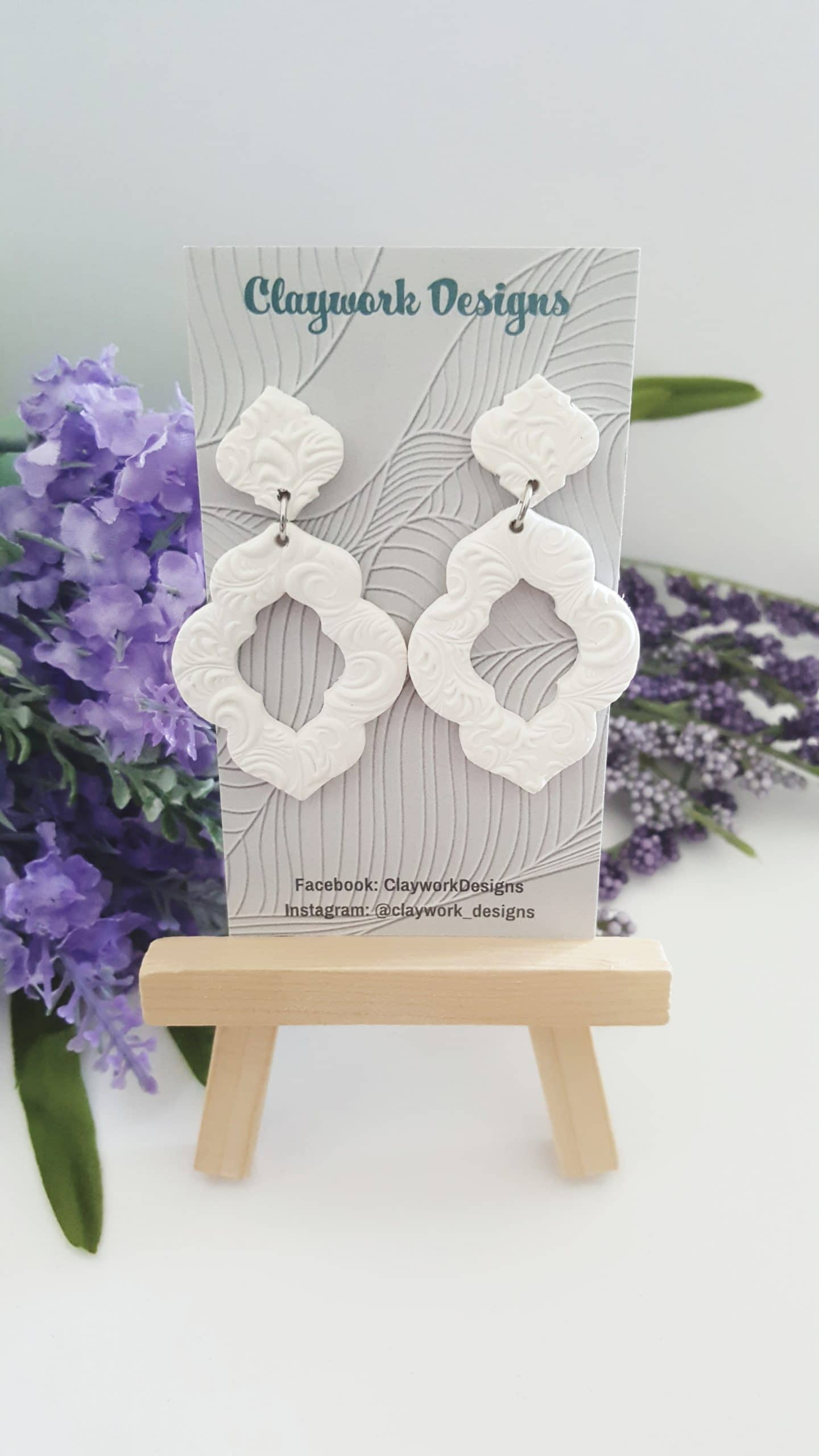 Wirework Designs | Handcrafted chainmaille jewellery and chainmaille products | Clay Style Statement Earrings | 20210515_153500