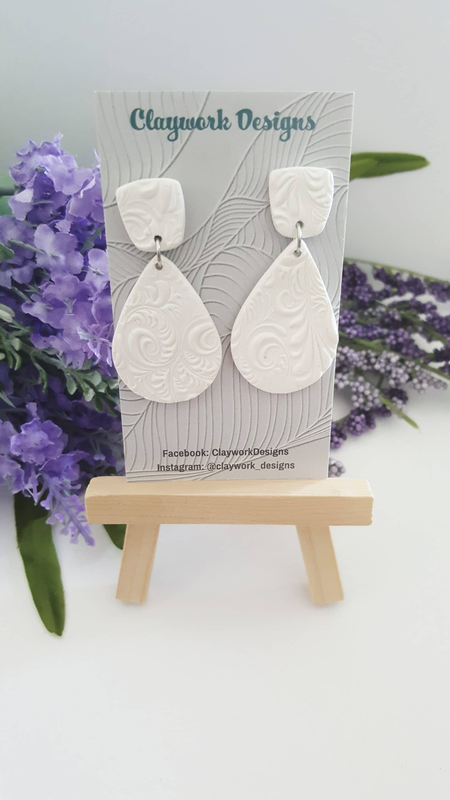 Wirework Designs | Handcrafted chainmaille jewellery and chainmaille products | Clay Style Statement Earrings | 20210515_153605